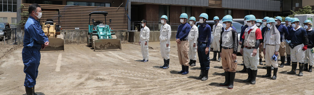 Disaster Relief Hinokishin Corps Mobilized in Kumamoto Prefecture